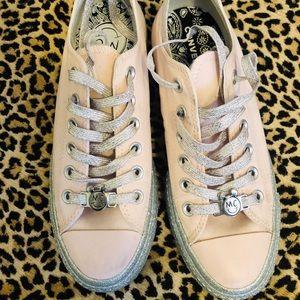 Miley Cyrus Pink Glitter Converse